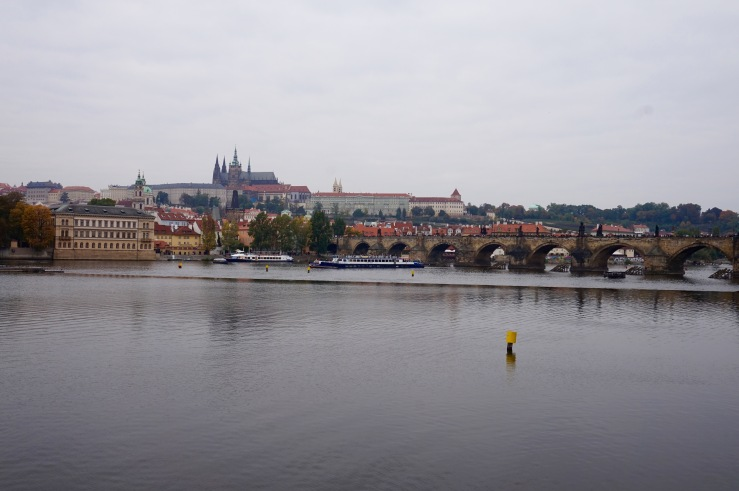 The St. Charles Bridge - you can see the Prague Castle in the distance as well